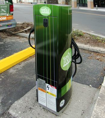 Electric Car Charging Station Wrap