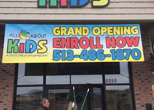 All About Kids Grand Opening Banner