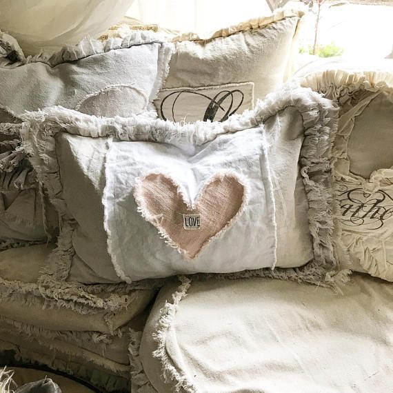 Sew-a-palooza Saturday - Canvas Heart Pillows