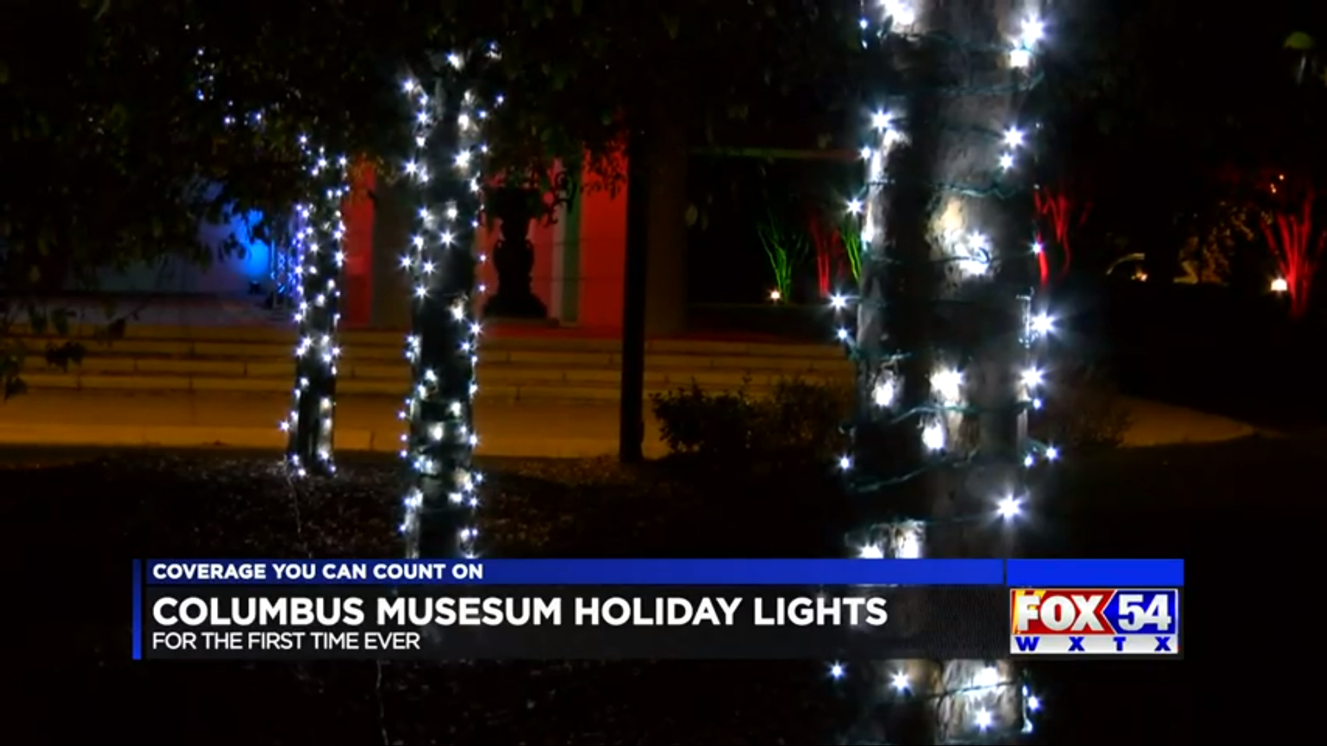 Columbus Museum displaying holiday lights for the public