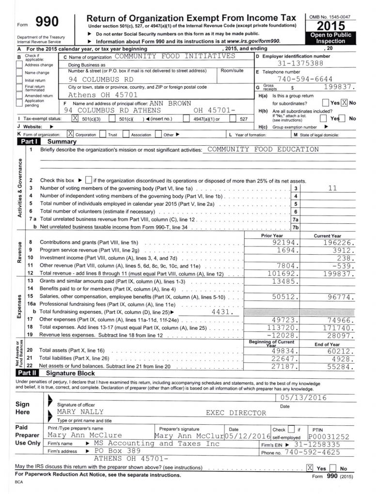 2015 IRS 990