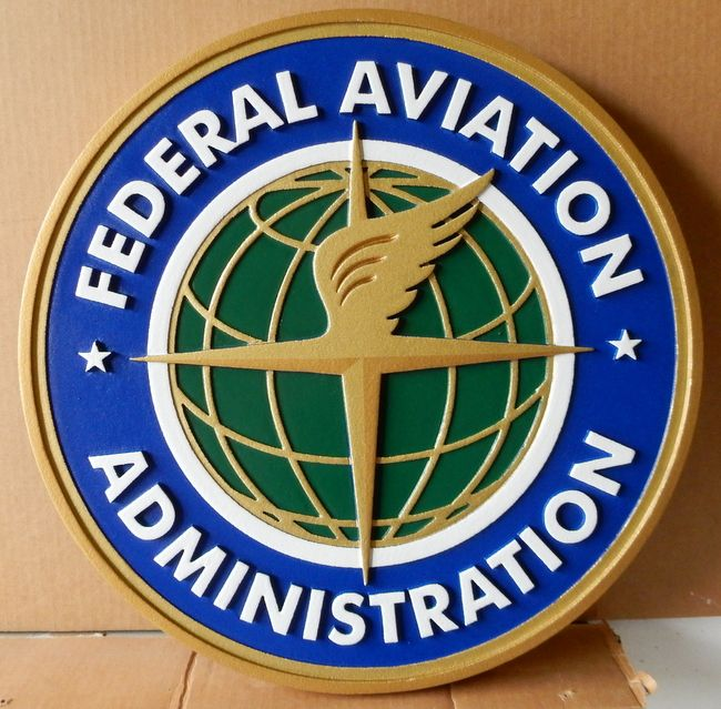 U30520 - Carved Wall Plaque for the Federal Aviation Administration (FAA)