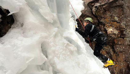 Molly Bloom Ice Climbing
