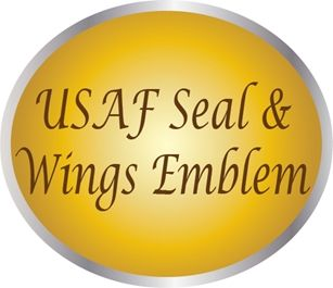 LP-1000 - Carved Plaques  of the  Seal, Emblem  and Wings Emblem of the US Air Force