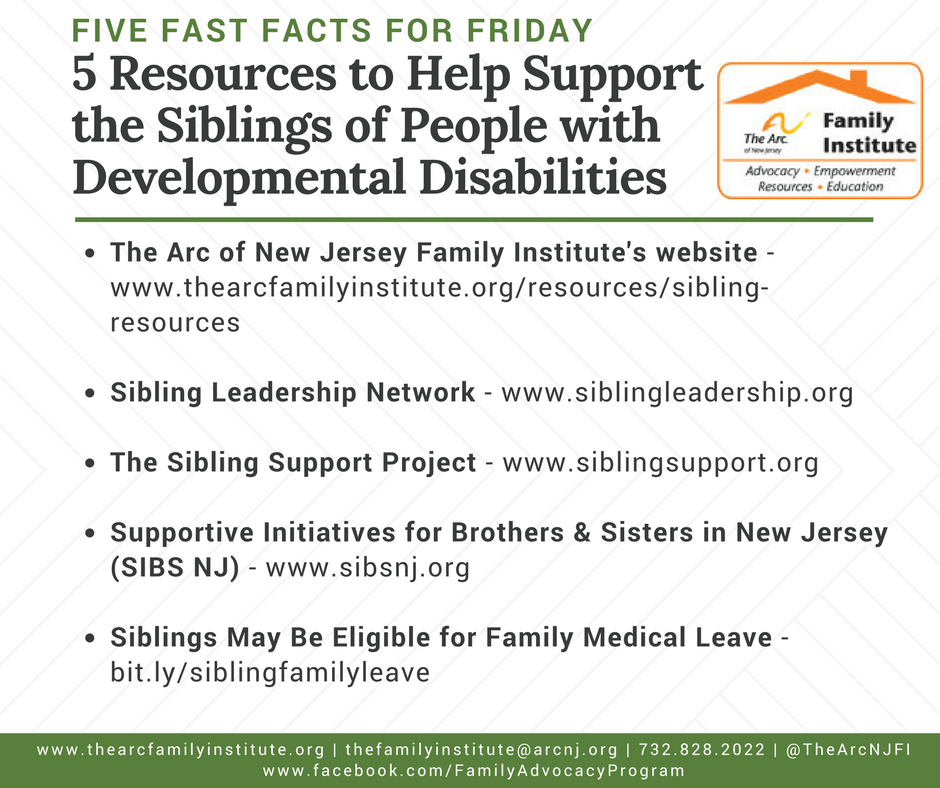 5 Resources to Help Support the Siblings of People with Developmental Disabilities