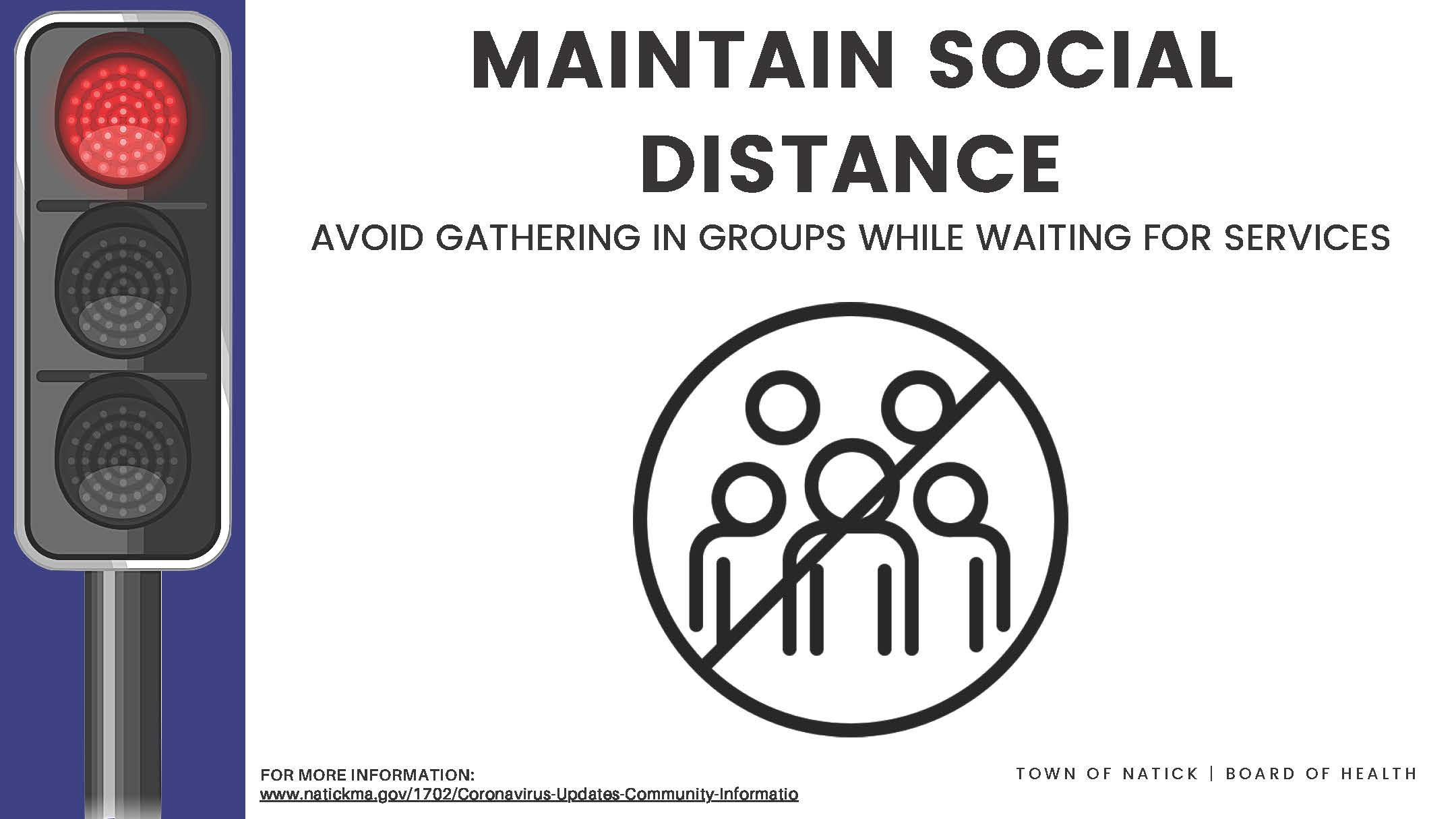 Maintain Social Distance Avoid Gathering Poster