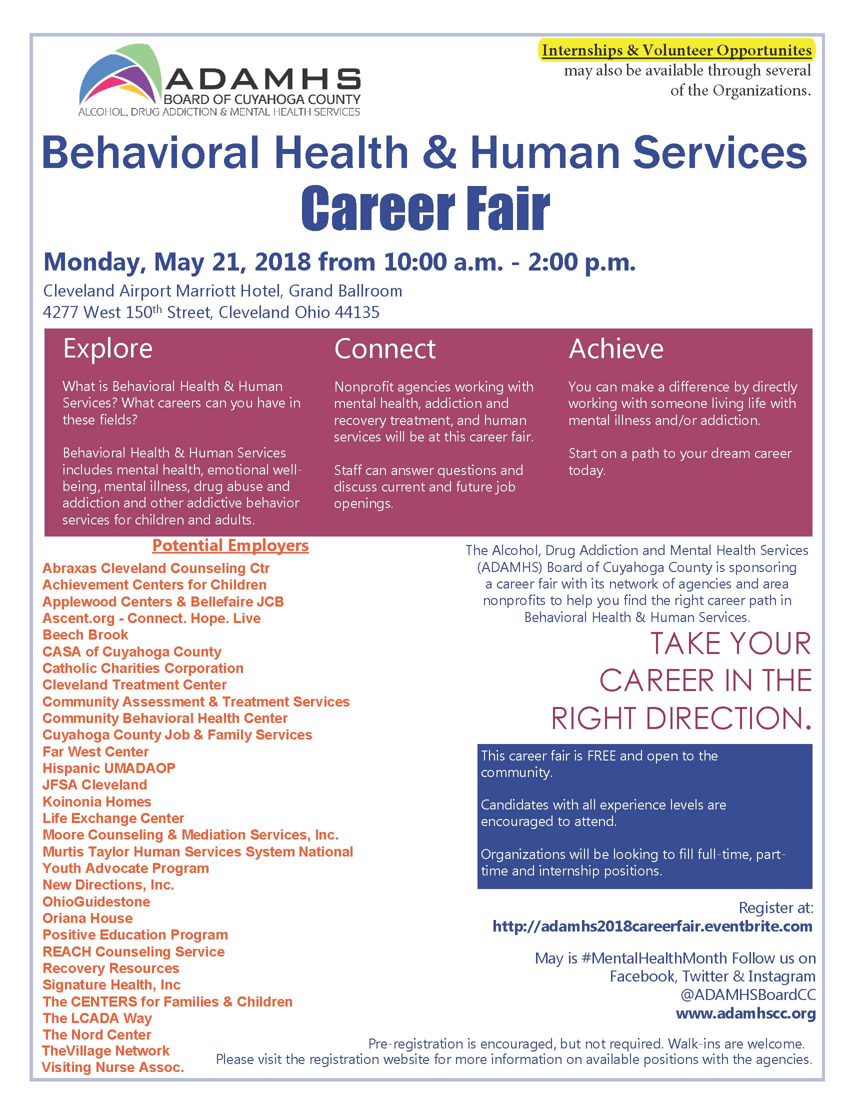 Behavioral Health & Human Services Career Fair