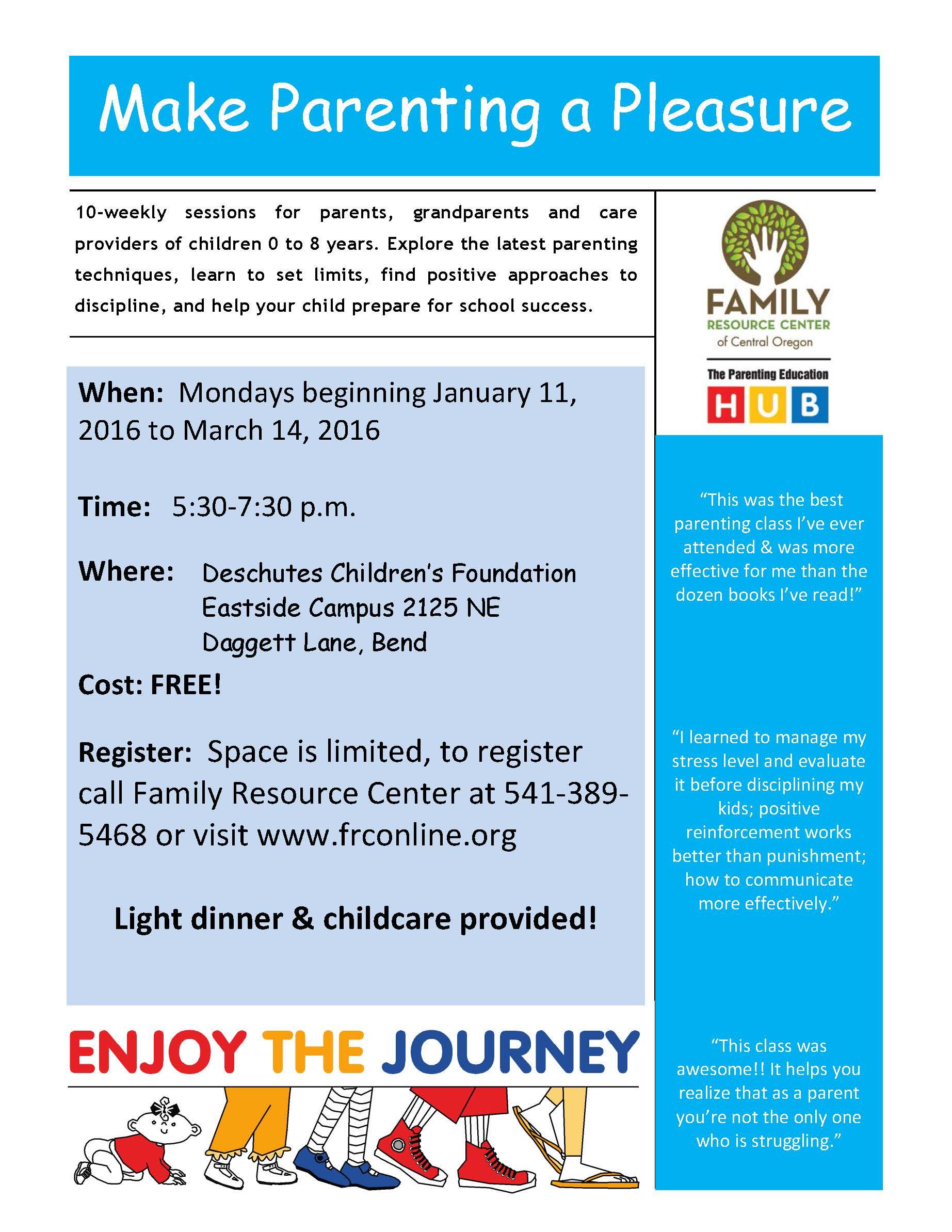 Family Resource Center of Central Oregon : Calendar & News