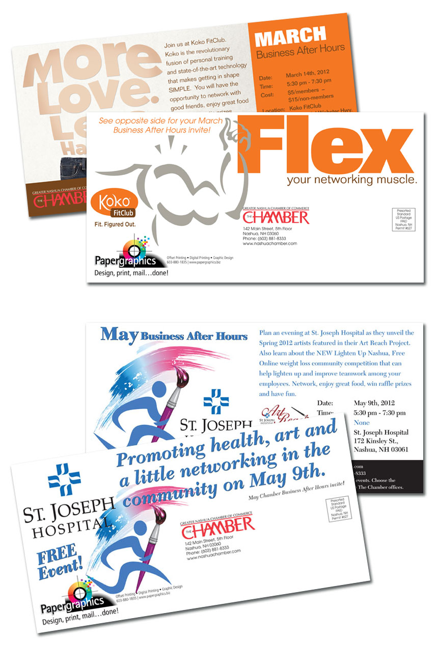 Nashua Chamber's Business After Hours Jumbo Postcards