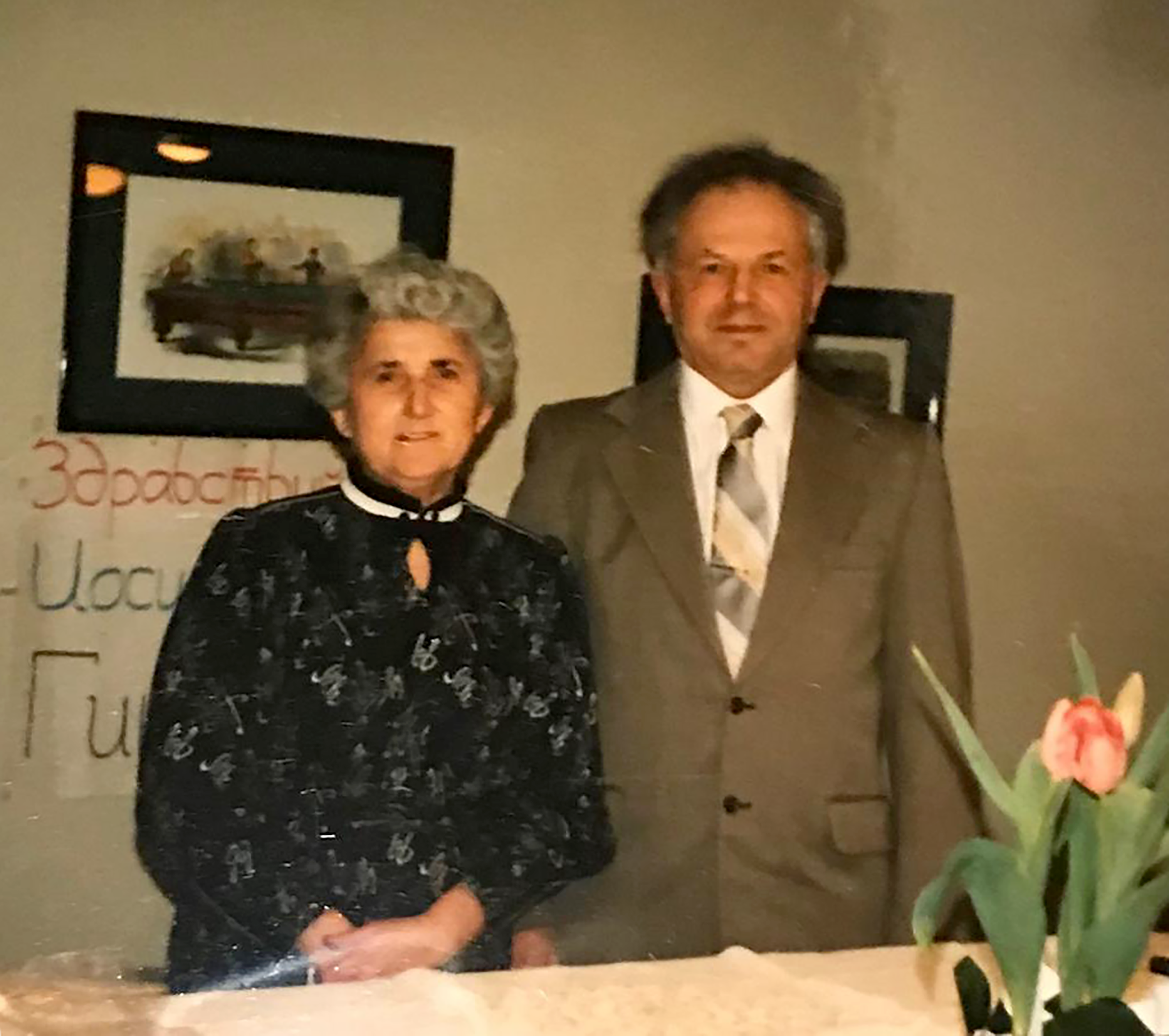 Zoya's parents, Yosef and Sima Ginsburg, when they visited Seattle in 1989.