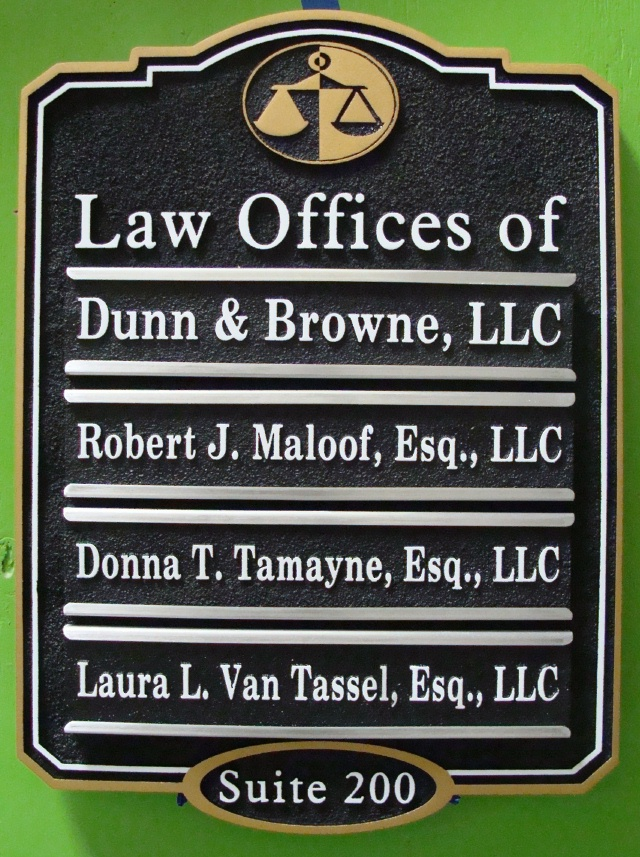 A10525 - Law Office Directory Sign with Changeable Nameplates