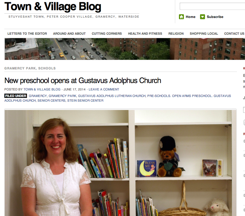 Read the article about Open Arms in the Town & Village Blog