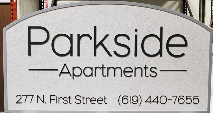 "K30376 - Carved High-Density-Urethane (HDU)  Entrance sign for the ""Tall Oaks Apartments"", 2.5-D,"