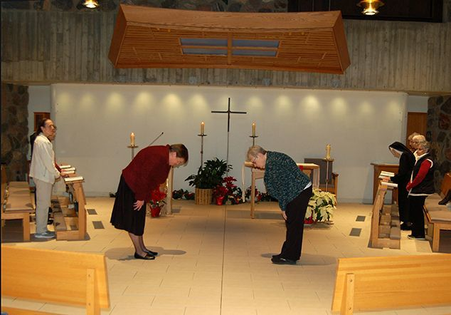 Sisters Celebrating Eucharist