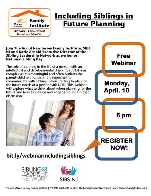 Free Webinar: Including Siblings in Future Planning