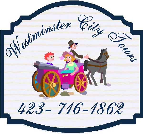SA28450 - Design for Sign for City Tours, Horse Drawn Coach.