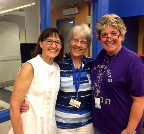 PALS Julie Sykes and Joni Kimsey with 6th grade teacher Elizabeth Rash at Faxon Elementary School's Back to School Teacher and Staff Luncheon.