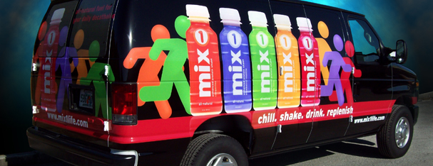 Mixx Vehicle Graphics- Ford Van Full Wrap