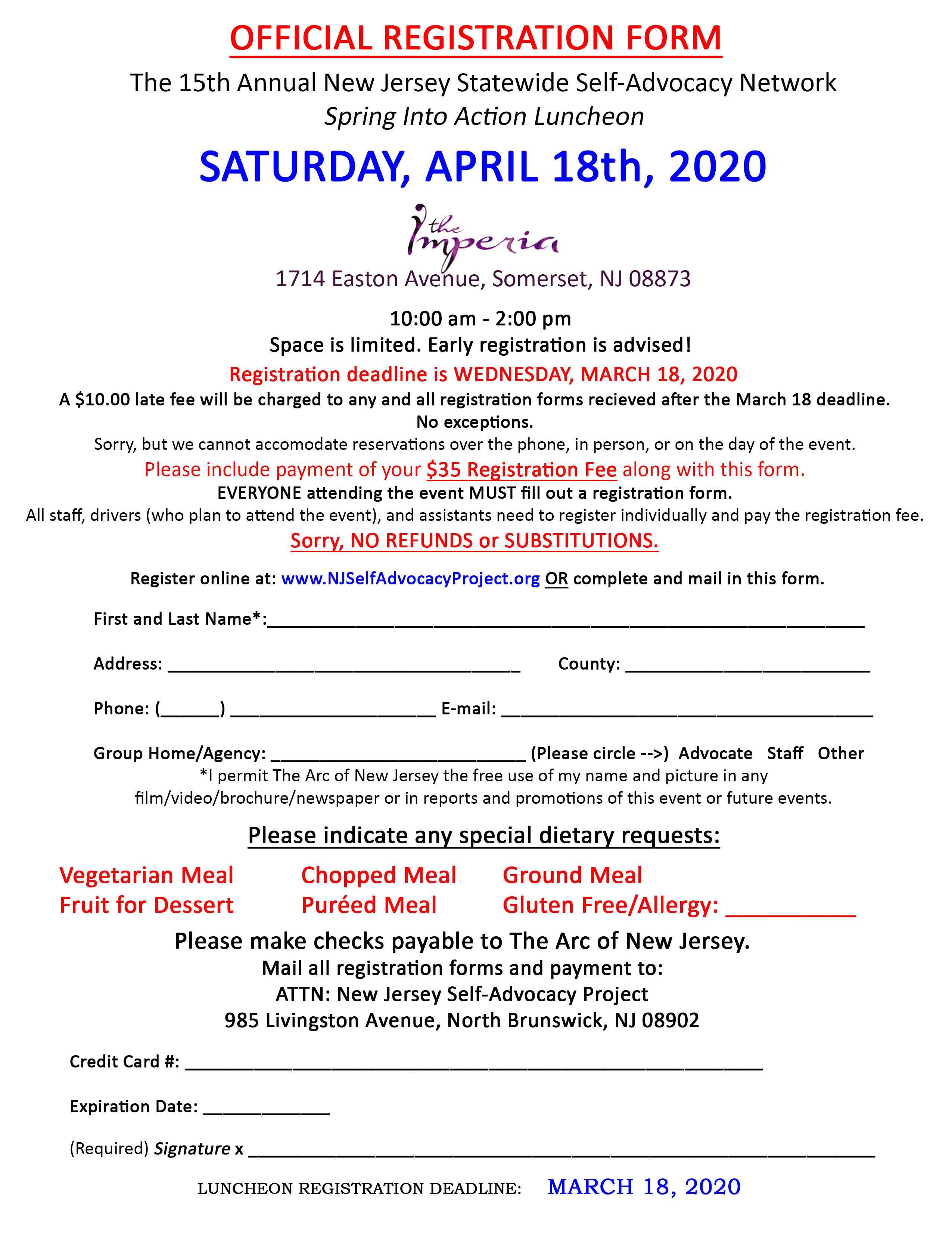 Spring Luncheon Registration