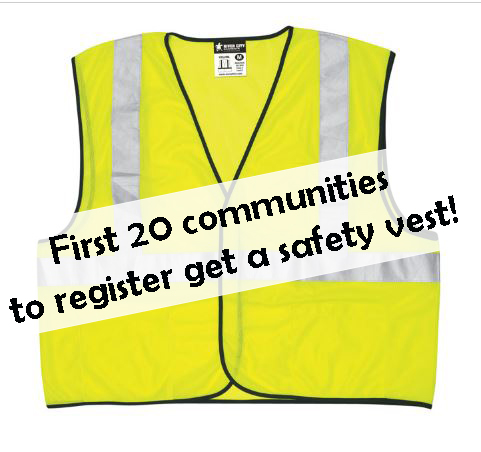 Free safety vest for first 20 communities at Auburn Seminar