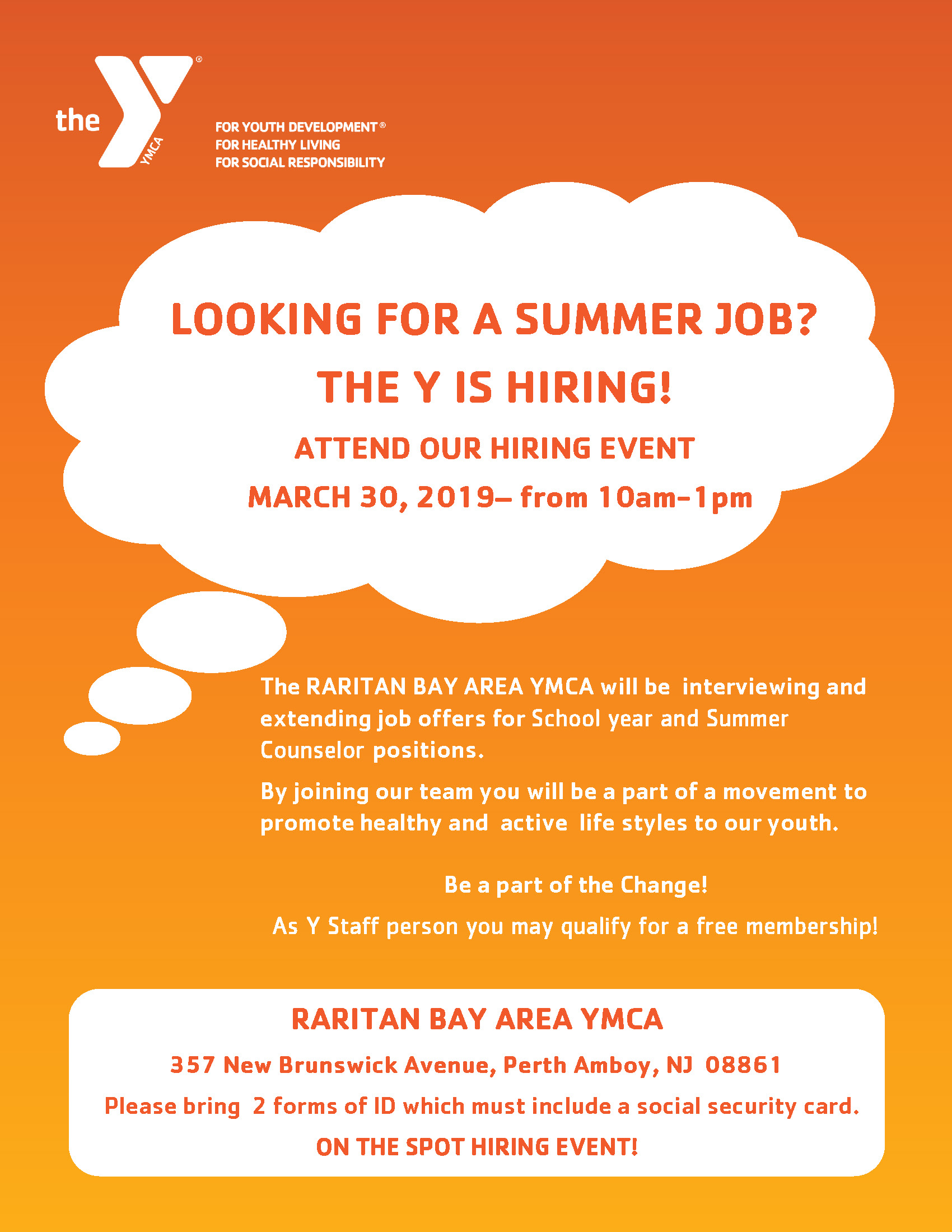Hiring Event at the Y!