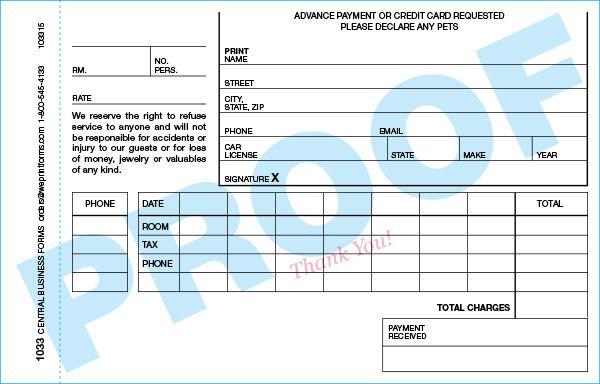 Standard 1033 Form