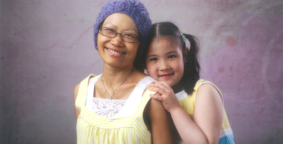 Photo of Samantha and Erica, the wife and daughter of Mark Jaffe, owner of Colorprint in Burlingame, CA
