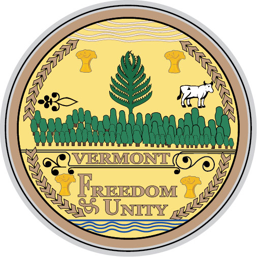 W32500 -  Seal of State of Vermont Wall Plaque