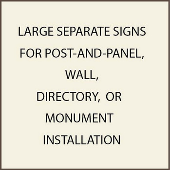 L-28000S -  Large Commercial Post-and-Panel and Wall Signs