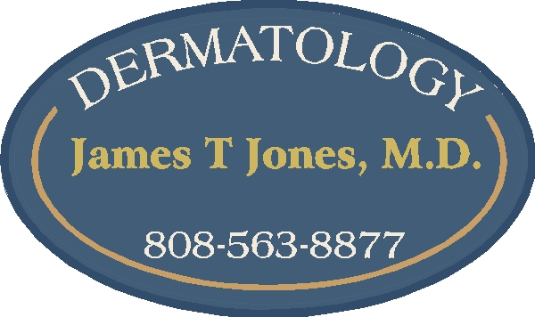 B11044 - Sandblasted, Carved, Painted, High Density Urethane Sign for Dermatology Practice with Name of the Physician and Office Phone Number
