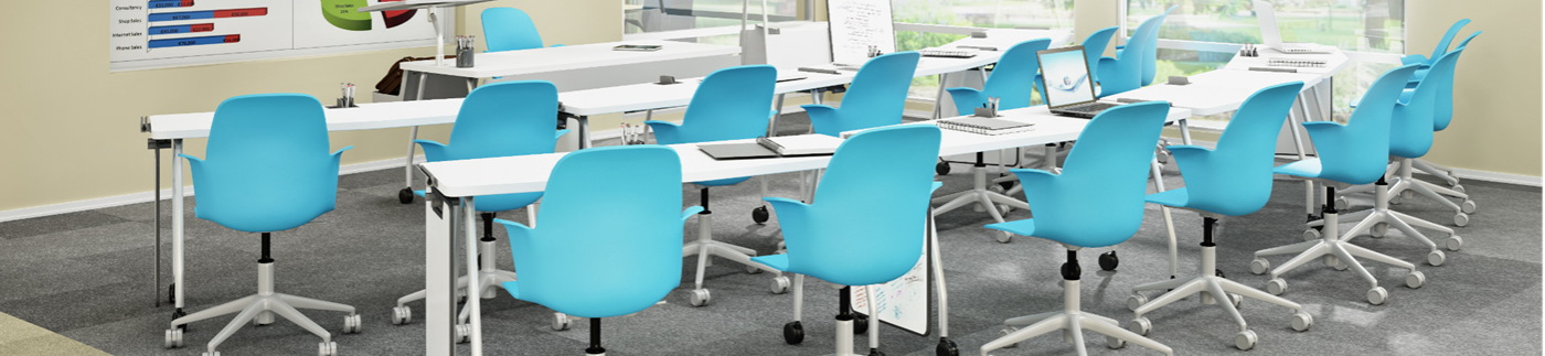 Blue Chairs in Training Area