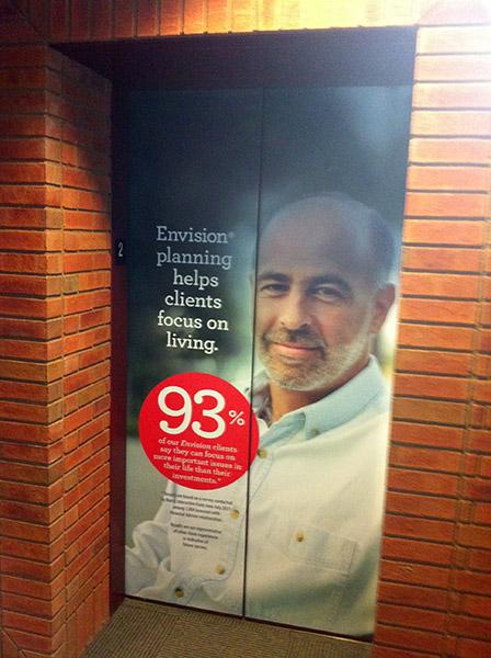 Wells Fargo Elevator Wrap
