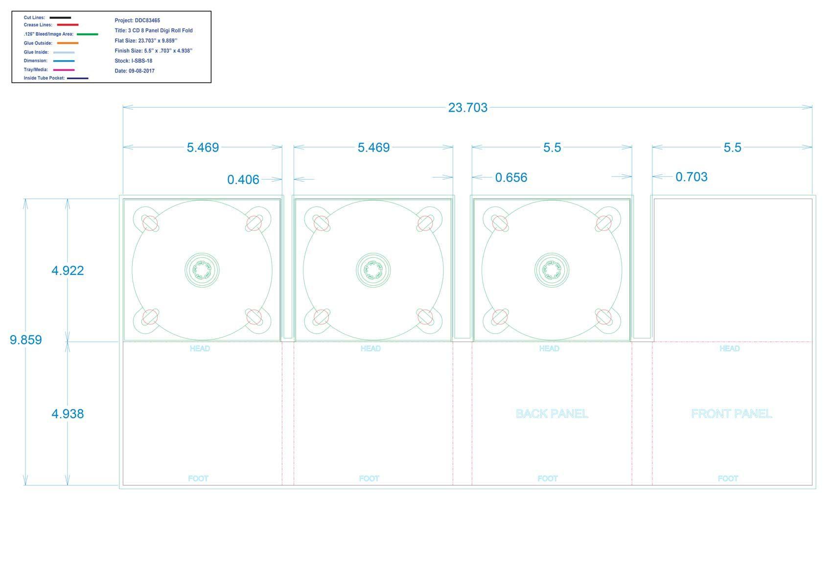 DDC83465 - 8 Panel Digi Three Trays Roll Fold