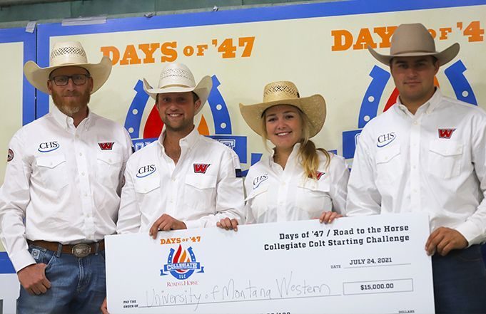 Montana Western Team Places First at Road to the Horse Collegiate Colt Starting Challenge