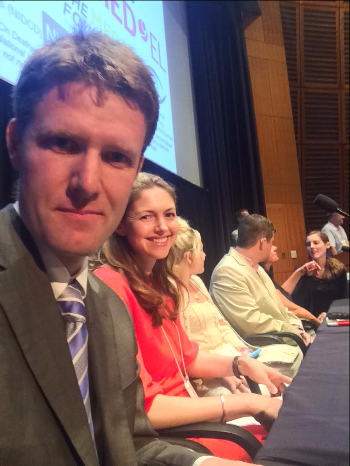 A selfie of Mike Walsh and fellow family panelists