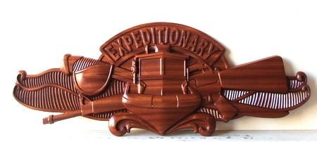 M3003 - 3D  Special Weapons Navy Emblem Plaque Carved from Solid Mahogany (gallery 31)