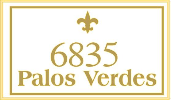 KA20867 - Design of HDU or Wood Address Street Number Sign with Carved Fleur-des-Lis