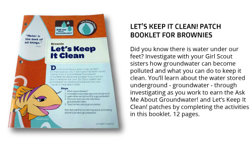"Brownie ""Let's Keep It Clean"" Patch Booklet"