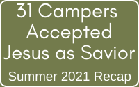 2021 Campers who accepted christ