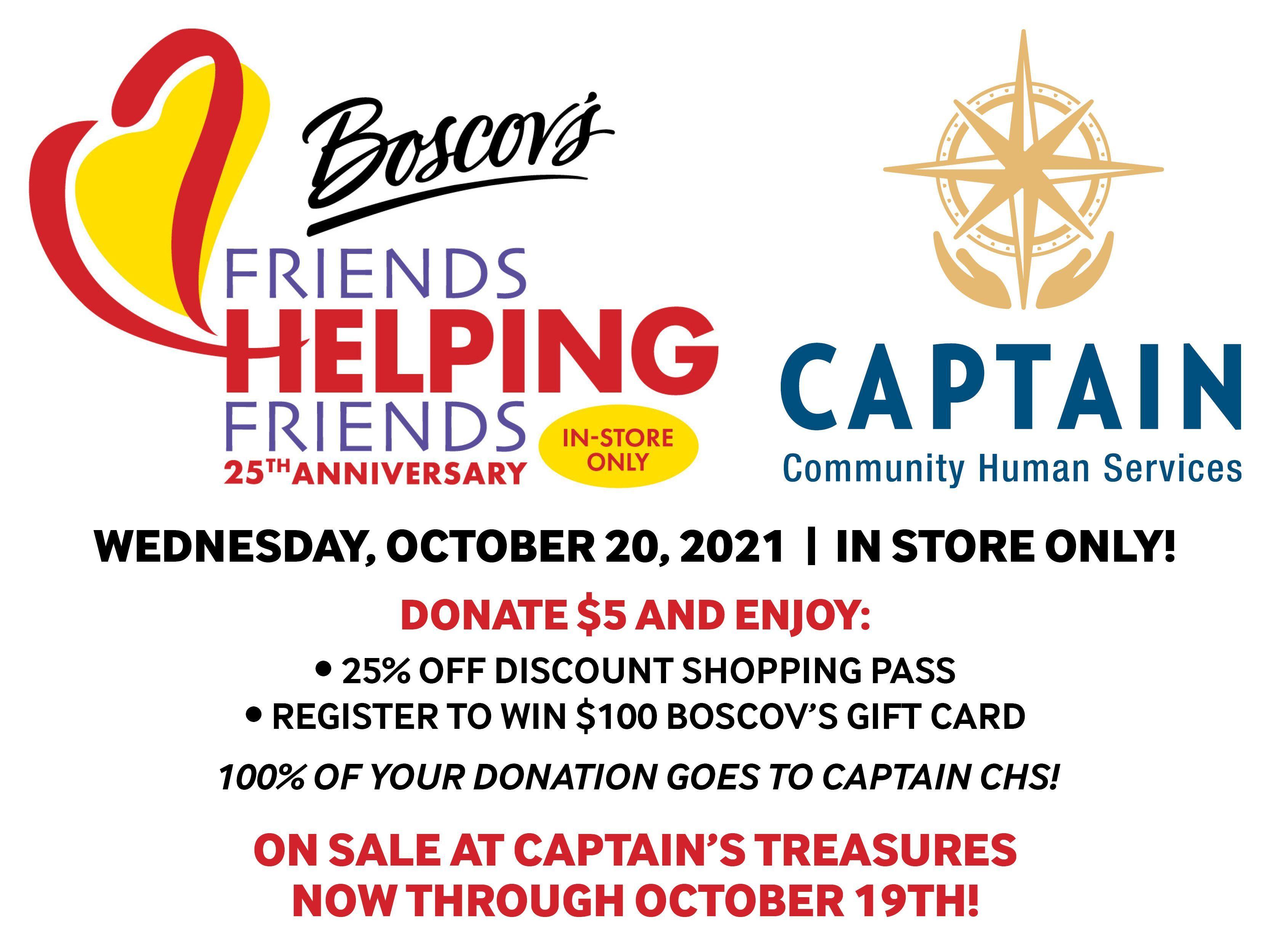 Boscov's Friends Helping Friends 25th Anniversary!