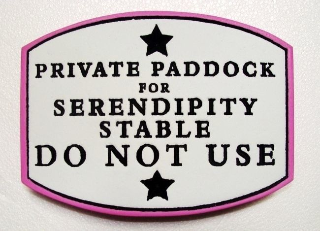 P25146 - Private Paddock Sign
