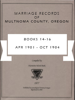 Marriage Records of Multnomah County, Oregon, Book 14-16, Apr 1901 - Oct 1904, pp. 183