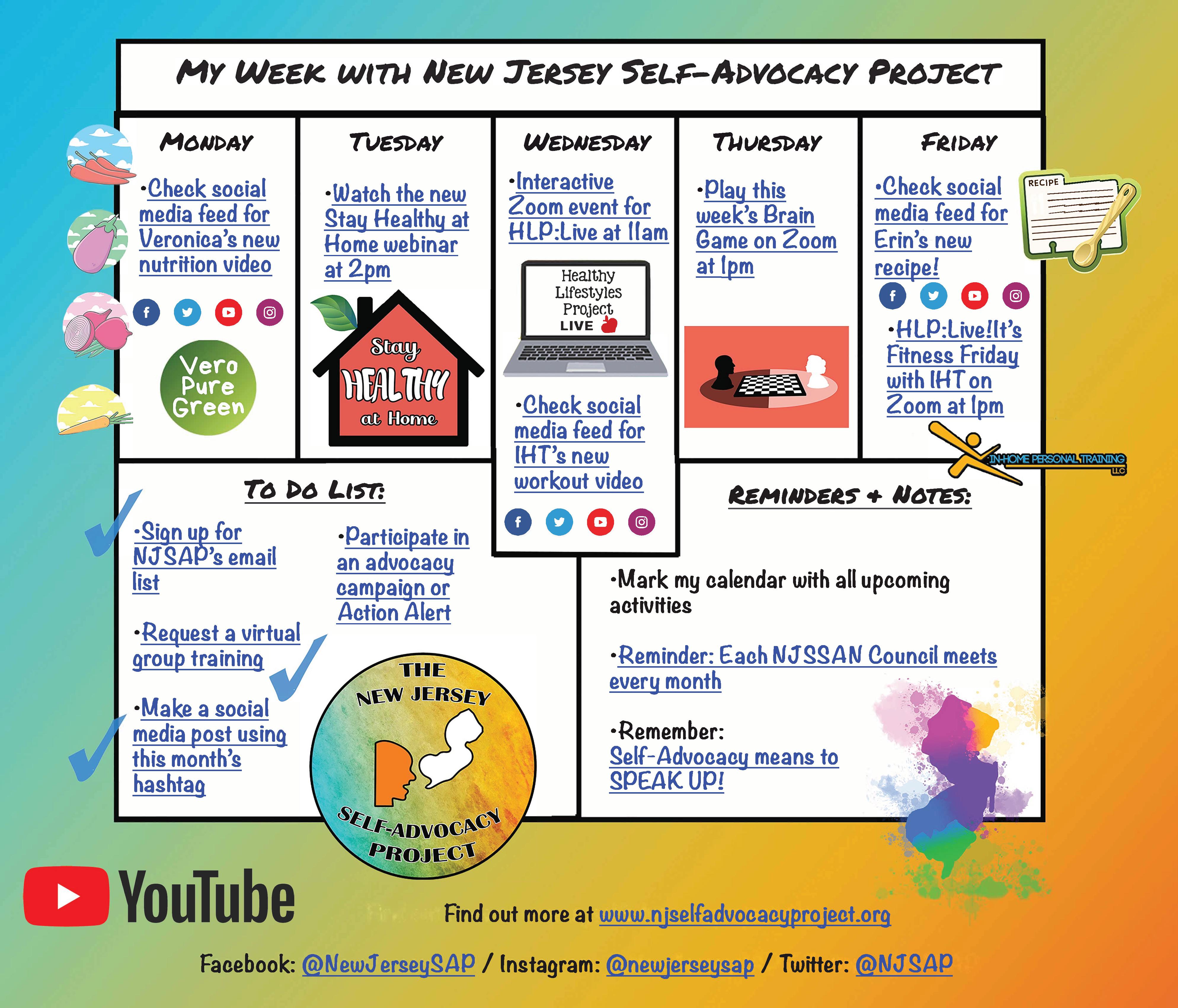 NJSAP Weekly Activities