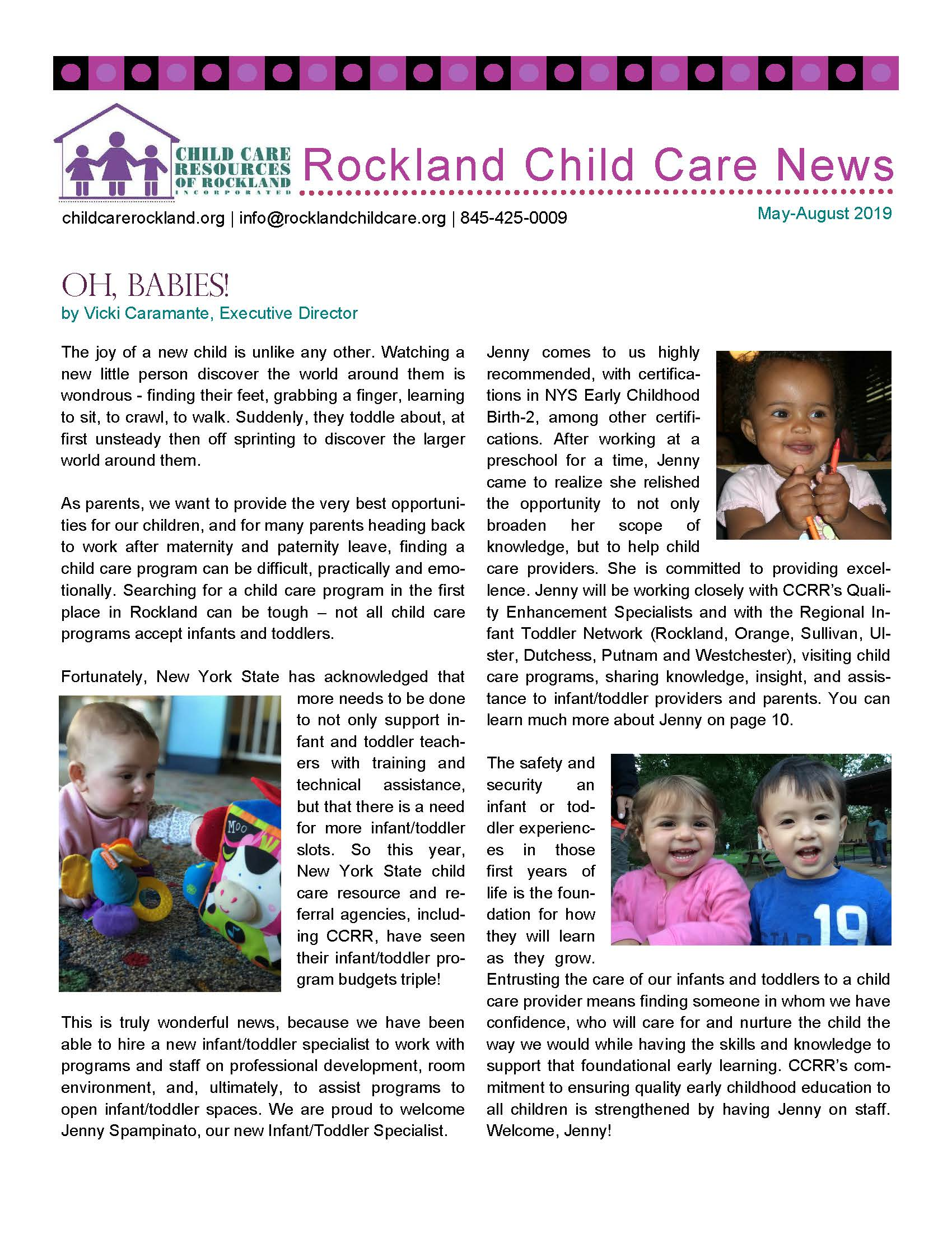 Rockland Child Care News May-August 2019