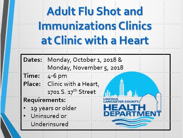 Adult Immunizations and Flu Shots!