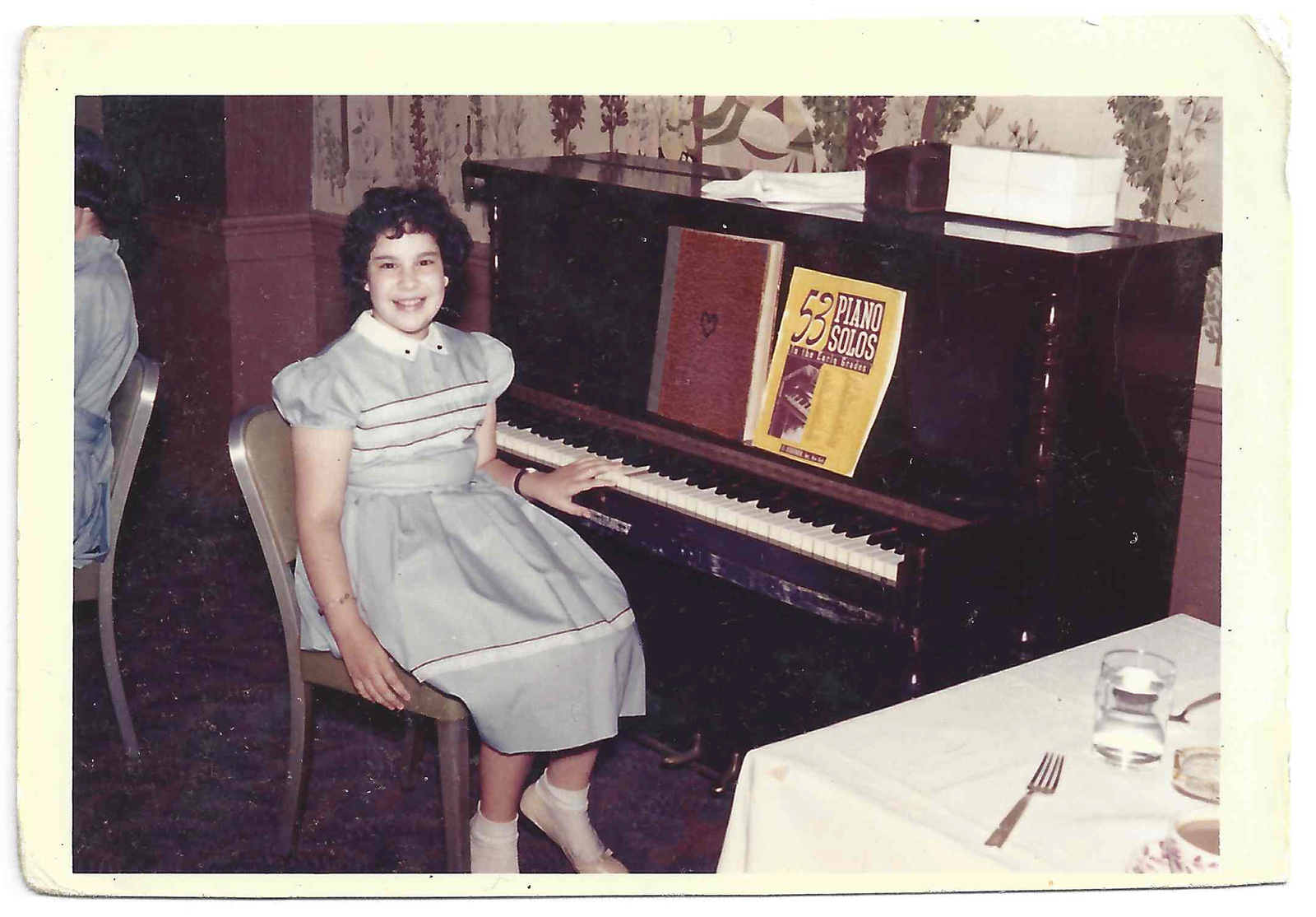 Mina's first recital, age ten, at her sister's sixteenth birthday party.