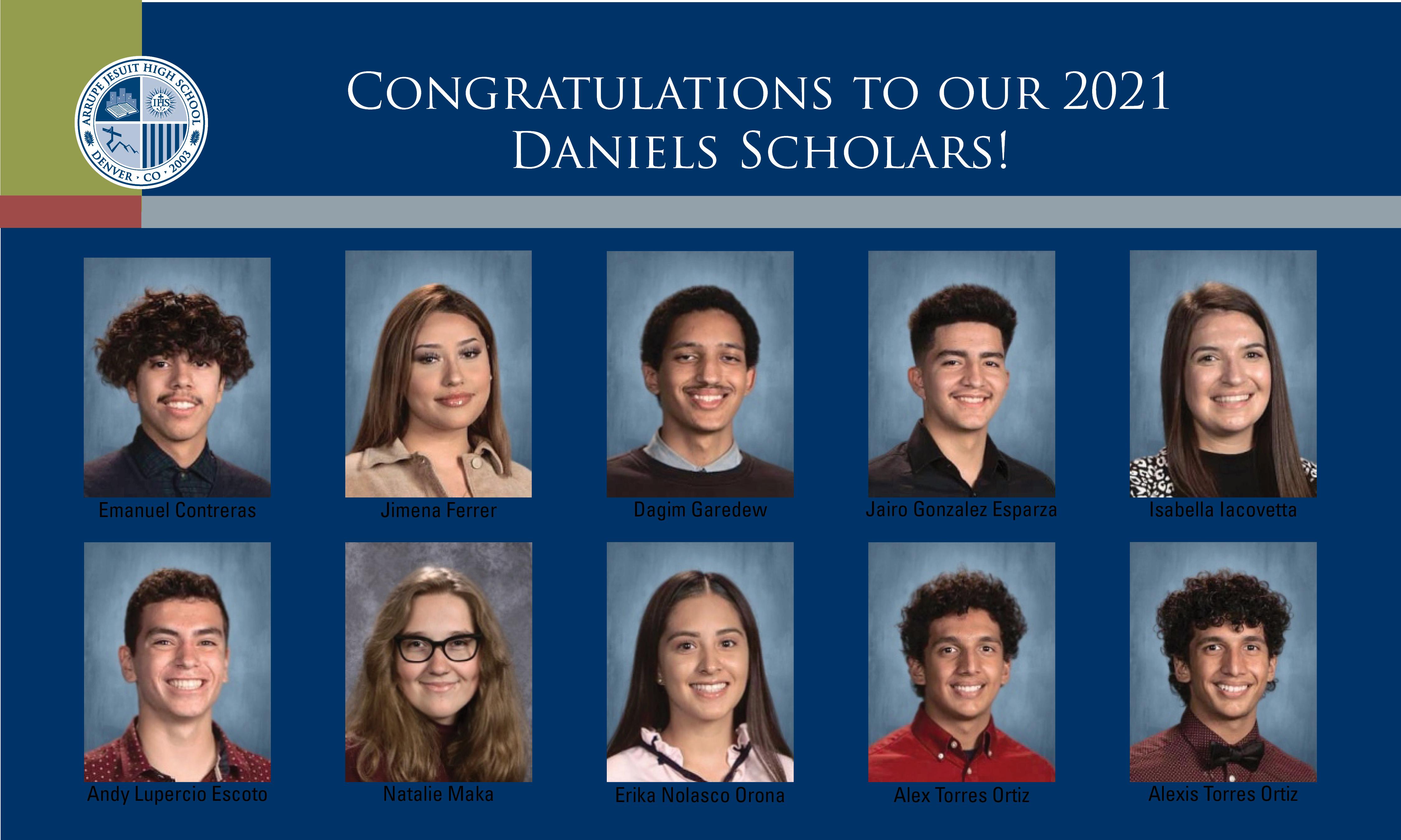 Daniels Fund announces 2021 Class of Daniels Scholars