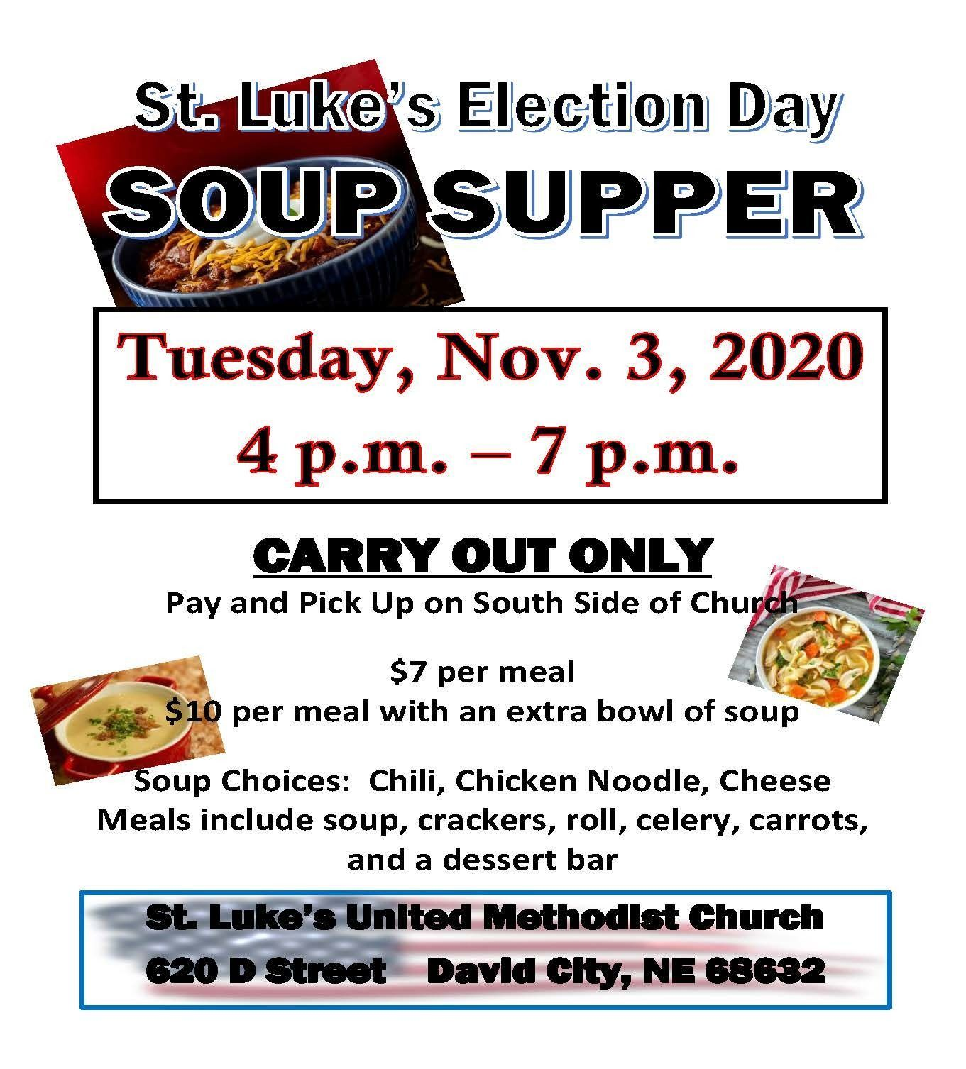 St. Luke's United Methodist Church Election Day Soup Supper