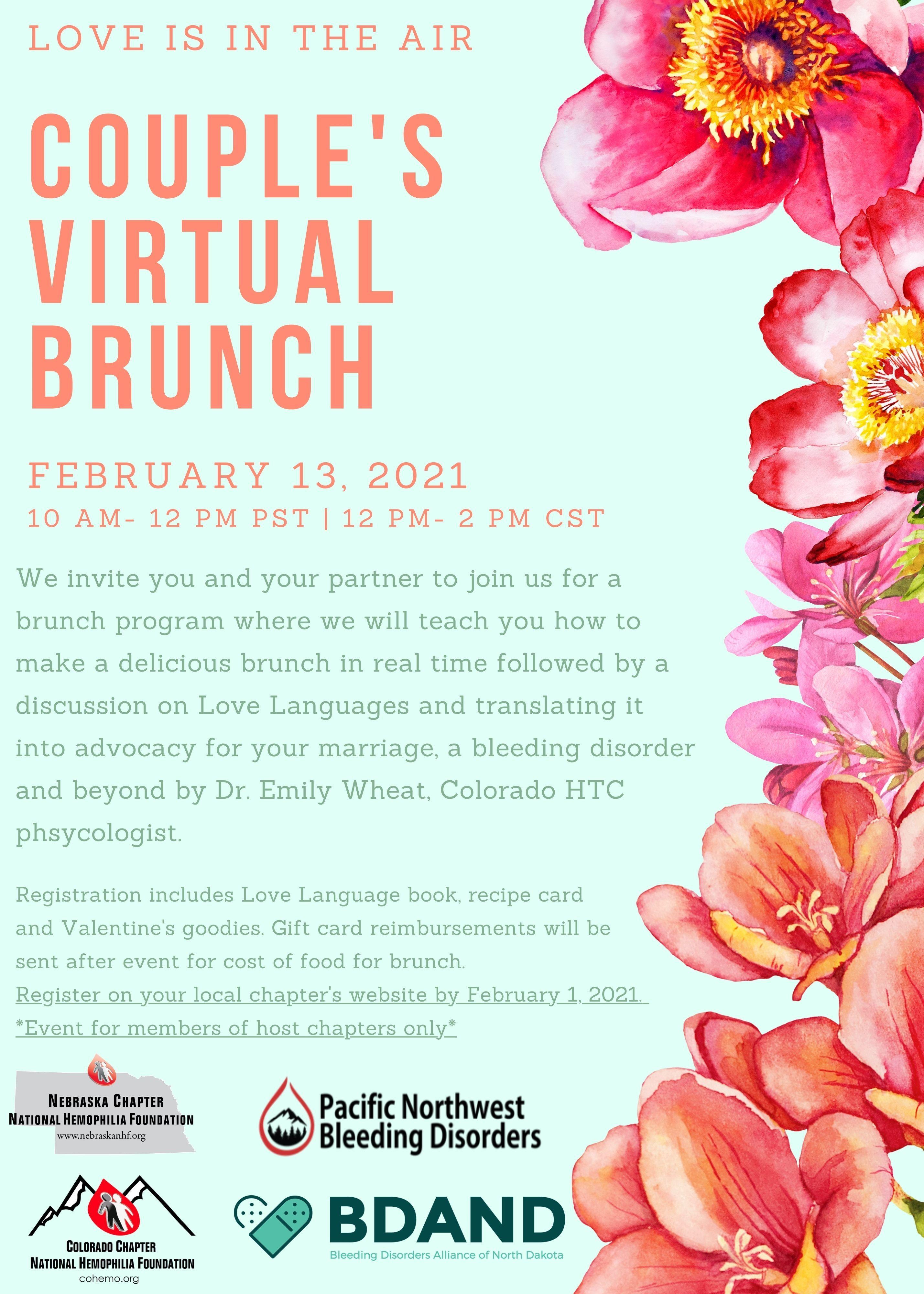 Couples Virtual Brunch