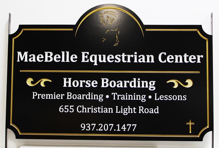 P25238 -  Engraved High-Density-Urethane Engraved Sign for the Maebelle Equestrian Center
